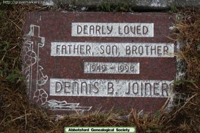 Dennis Joiner Tombstone