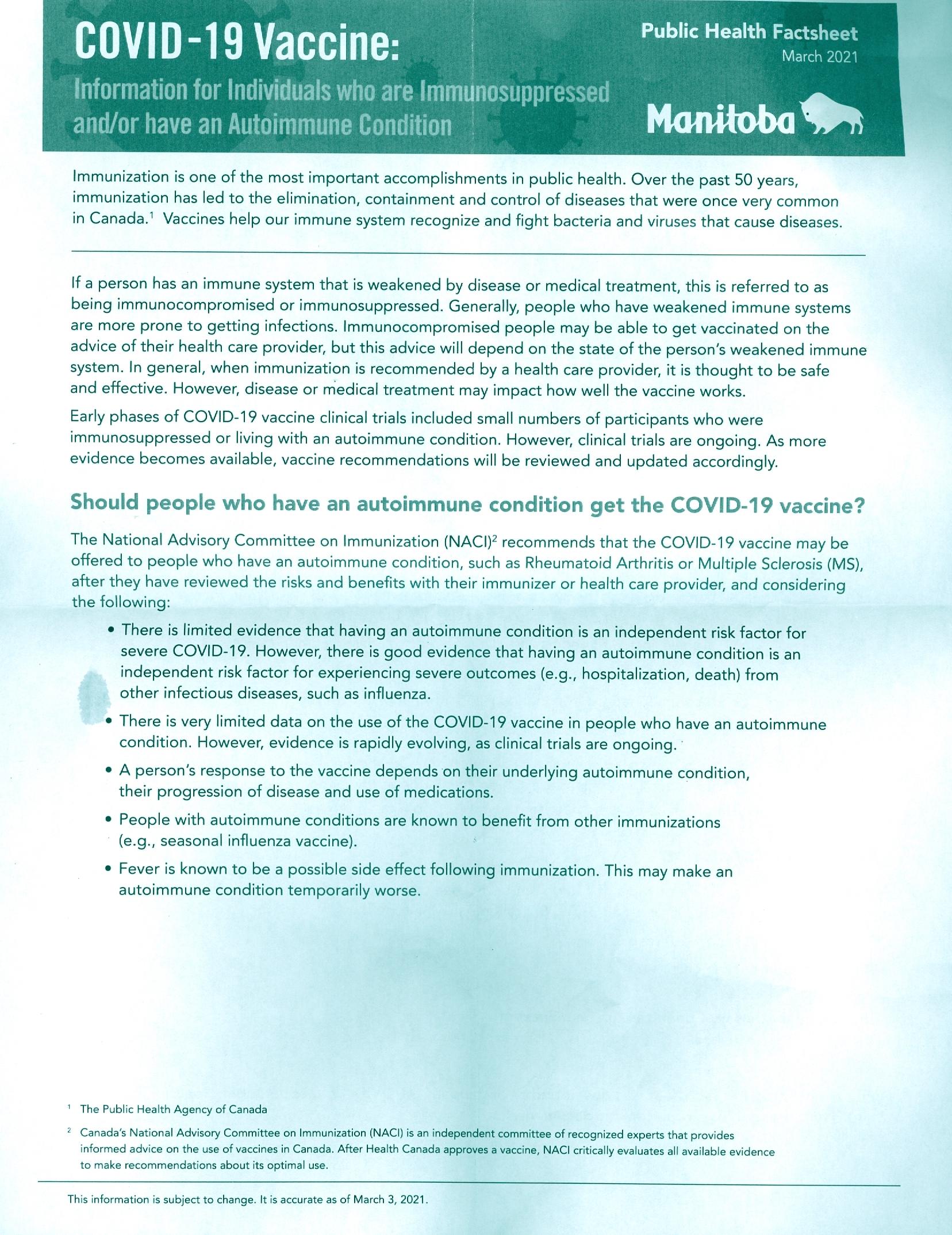 Vaccineinformation